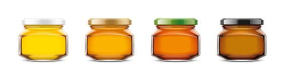 Maqueta clara de Honey Jar Tamaño pequeño adicional ilustración del vector
