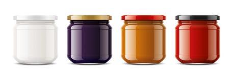 Maqueta clara del tarro Tamaño pequeño stock de ilustración