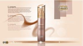 Maqueta cosmética de la plantilla de los anuncios