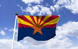 Maqueta de la bandera de Arizona en el viento libre illustration