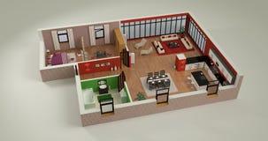 Maqueta de la casa Imagen de archivo libre de regalías
