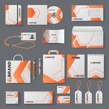 Maqueta de la identidad corporativa Cubierta de marcado en caliente del folleto de la marca de la taza del sobre de la letra de l libre illustration