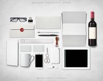 Maqueta de la identidad de marca Foto de archivo libre de regalías