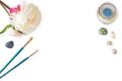 Maqueta de las ilustraciones para las impresiones Fotografía de archivo libre de regalías