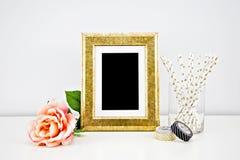 Maqueta de las ilustraciones para las impresiones Foto de archivo libre de regalías
