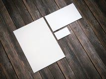 Maqueta de marcado en caliente blanca representación 3d Stock de ilustración