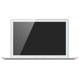 Maqueta de plata realista del ordenador portátil Foto de archivo libre de regalías