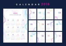 Maqueta del calendario del diseño del contorno foto de archivo
