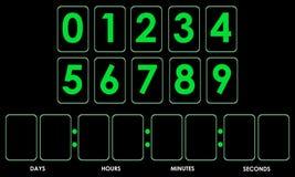 Maqueta del contador de tiempo de la cuenta descendiente Imagen de archivo libre de regalías