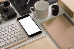 Maqueta del escritorio del diseñador Imagenes de archivo