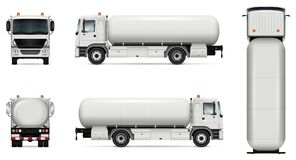 Maqueta del vector del camión de petrolero Imagen de archivo libre de regalías