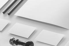 Maqueta determinada de los efectos de escritorio corporativos Fotografía de archivo libre de regalías