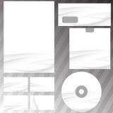 Maqueta determinada de Swoosh de los efectos de escritorio grises de la onda Foto de archivo libre de regalías