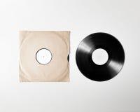 Maqueta en blanco de la manga de la cubierta del álbum del vinilo, trayectoria de recortes Fotos de archivo libres de regalías