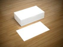 Maqueta en blanco de las tarjetas de visita Fotos de archivo libres de regalías