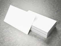 Maqueta en blanco de las tarjetas de visita Foto de archivo
