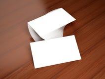 Maqueta en blanco de las tarjetas de visita Fotografía de archivo libre de regalías
