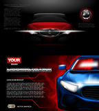 Maqueta moderna roja del coche deportivo del vector de Digitaces libre illustration