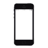 Maqueta realista del smartphone del teléfono móvil con isola de la pantalla en blanco ilustración del vector