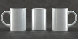 Maquetas de la taza en fondo concreto Fotografía de archivo libre de regalías