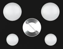 Maquetas del Pin en fondo oscuro Foto de archivo libre de regalías
