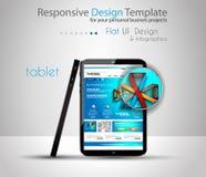 Maquetas modernas de los dispositivos con la plantilla del web stock de ilustración