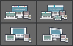 Maquetas responsivas de la pantalla stock de ilustración