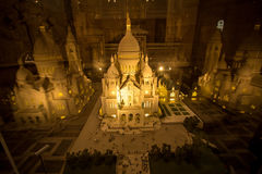 Maquette базилики Sacre Coeur, Парижа, Франции стоковое изображение
