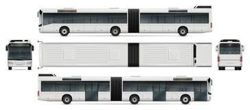 Maquette articulée de vecteur d'autobus Photo libre de droits