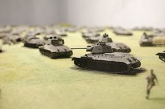 T-34 tanks in the battle of Prokhorovka, 1943 royalty free stock photography