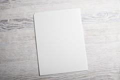 Maquette blanche de page de papier blanc Image libre de droits