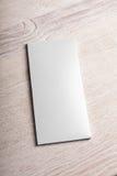 Maquette blanche de paquet de barre de chocolat Photographie stock