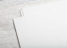 Maquette blanche de plan rapproché de page de papier blanc Photographie stock