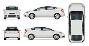 Maquette blanche de vecteur de voiture Photo libre de droits