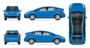 Maquette bleue de vecteur de voiture Photos stock