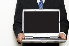 Maquette d'écran d'affichage à cristaux liquides d'ordinateur portable Photos stock