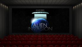 maquette d'écran de cinéma image libre de droits