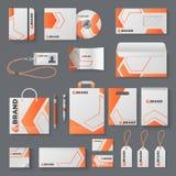 Maquette d'identité d'entreprise Couverture de marquage à chaud de brochure de marque de tasse d'enveloppe de lettre de carte de  illustration libre de droits