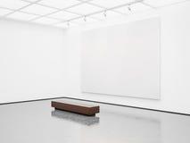 Maquette d'intérieur avec la toile blanche 3d rendent Image stock