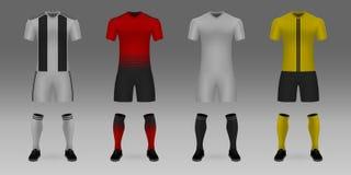 Maquette d'uniforme d'équipe de football Illustration de Vecteur
