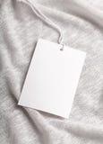Maquette de blanc d'étiquette de label de tissu Photographie stock libre de droits