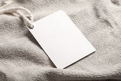 Maquette de blanc d'étiquette de label de tissu Images libres de droits