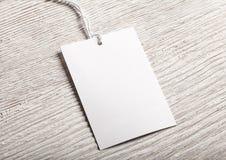 Maquette de blanc d'étiquette de label de tissu Photo libre de droits