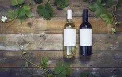 Maquette de bouteilles de vin Image libre de droits