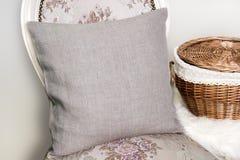Maquette de caisse de coussin d'oreiller de toile image libre de droits