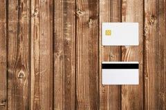 Maquette de carte de crédit images libres de droits