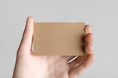 Maquette de carte de visite professionnelle de visite de Papier d'emballage (85x55mm) Images libres de droits