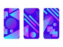 Maquette de cas de téléphone Memphis Pattern Background Maquette de cas de geometrPhone de gradients Memphis Pattern Background G illustration de vecteur