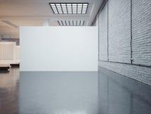 Maquette de grandes toile et briques blanches 3d rendent Images libres de droits