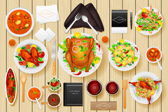 Maquette de marquage à chaud d'identité pour la table de dîner Images stock